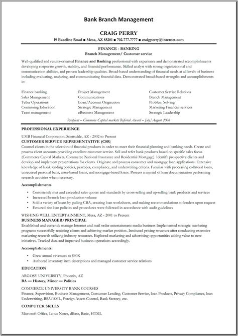 Resume Format For Banking Sales Manager Bank Manager Resume Free Resume Templates