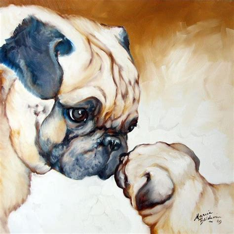 pug artist pug 2 pug by marcia baldwin from animals