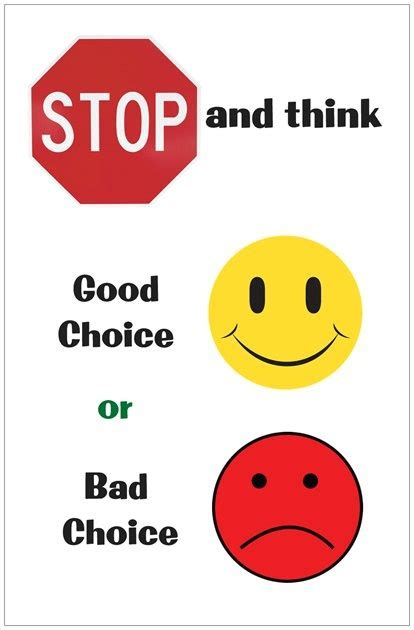 stop look and listen a toolbox for creating healthy boundaries books quot stop and think quot poster picture communication