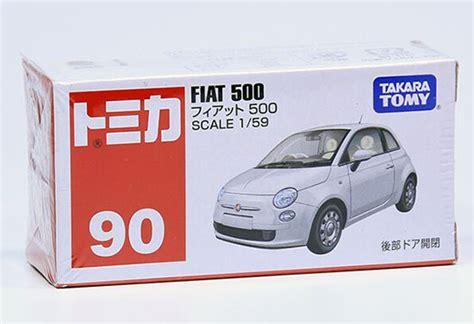 Fiat 500 Tomica Takara Tomy No 90 Blue 2 white 1 59 mini scale tomy no 90 diecast fiat 500 na02t0127 vktoybuy