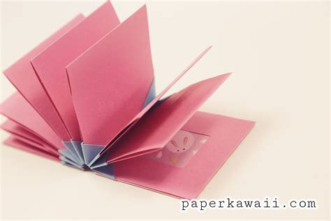 Make Origami Book - origami blizzard book tutorial paper kawaii