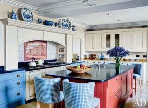 Red And Blue Kitchen by Blue Kitchens To Beat The Winter Blues Home Decorating
