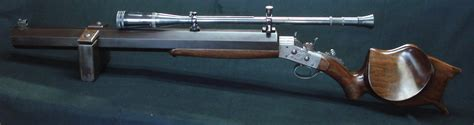 Handmade Rifle - custom build 38 55 heavy bench rifle gene gordner custom