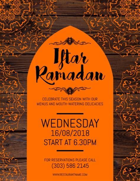 iftar menu card template iftar ramadan flyer template postermywall