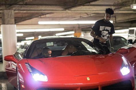 drake ferrari drake gifts 21 savage a ferrari for his 24th birthday