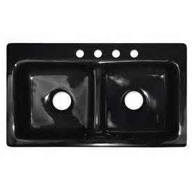 shop corstone cumberland gloss black basin acrylic
