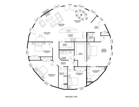 Straw Bale House Floor Plans Deltec Floor Plan Round House And Home Pinterest