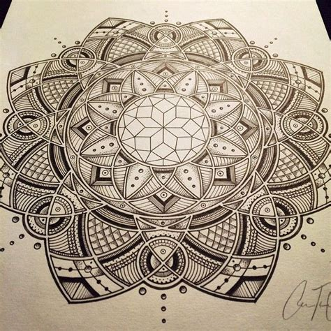 geometric zentangle tattoo art sacredgeometry floweroflife mandala geometric