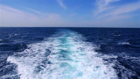 wake boat video peaceful seascape with ship wake stock footage video