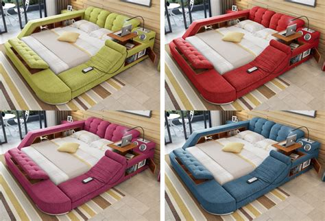 the ultimate bed with integrated massage chair speakers and desk the ultimate bed with integrated massage chair speakers