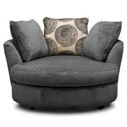 cordoba gray upholstery swivel chair value city furniture