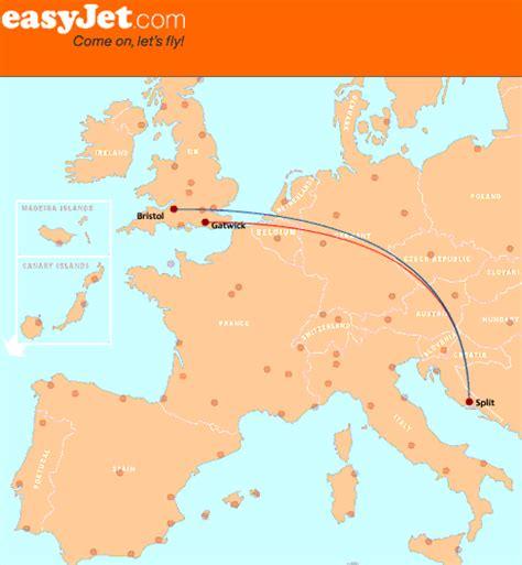 easyjet route map new easyjet flights from bristol to split croatia