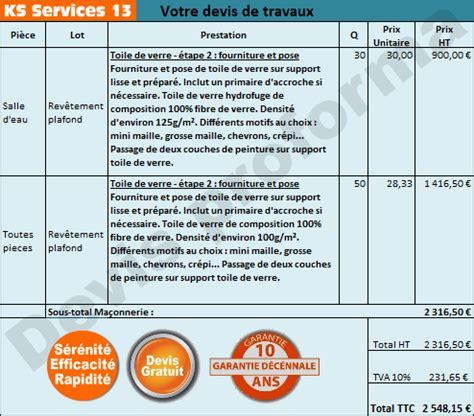 Prix Pose Placo M2 Avec Fourniture 4522 by Ks Services 13 Prix Devis Pose De Toile De Verre Au Plafond