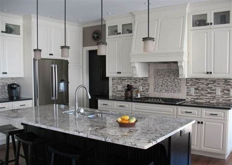 kitchen designs with white cabinets and granite countertops white ice granite countertops for a fantastic kitchen decor