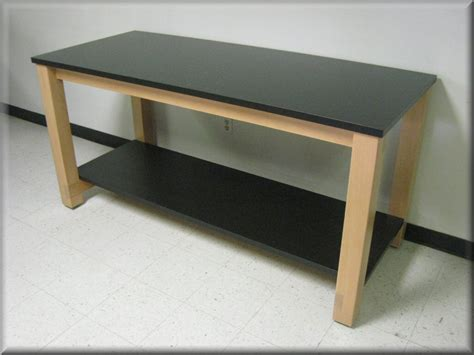 wooden bench and table laboratory tables science lab workbenches