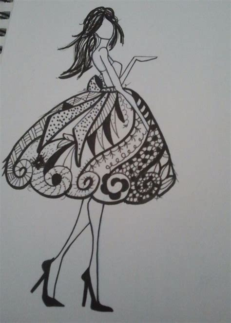 doodle draw style 17 best images about zentangles dresses on