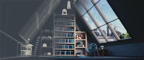 habitacion 3d fondo de pantalla de interiorismo 193 tico modelado 3d