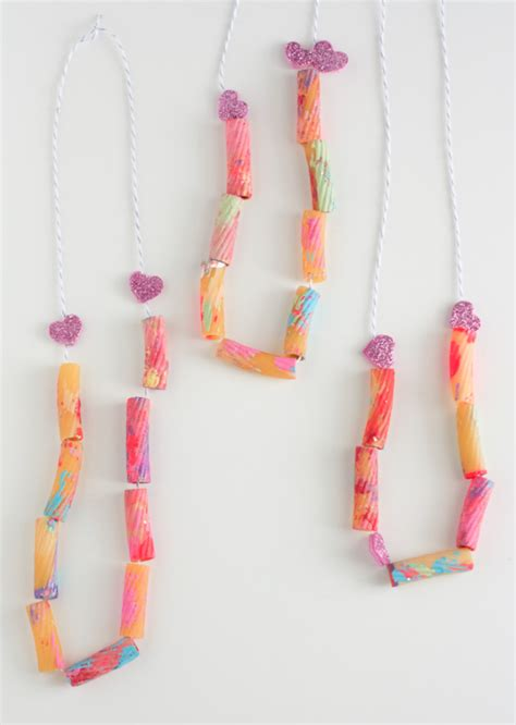 toddler valentines noodle necklace the alison show