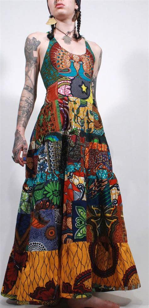 P O Selinam Batik reserved wax print tribal ethnic bohemian