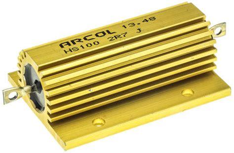 arcol resistors uk hs100 2r7 j arcol hs100 series aluminium housed axial panel mount resistor 2 7ω 177 5 100w arcol