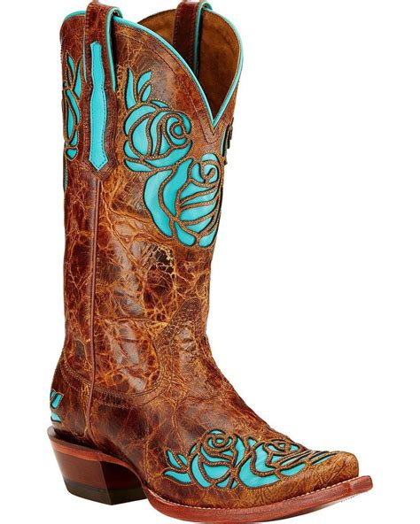 womens cowboy boots ariat s dusty boot snip toe 10017392
