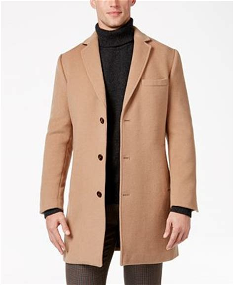Tasso Elba Men's Wool Blend Top Coat, Only at Macy's