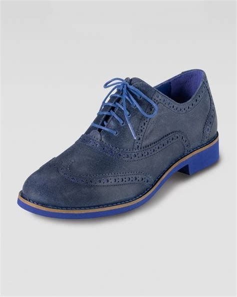cole haan oxford shoes cole haan alisa oxford shoes in blue blue cobalt lyst