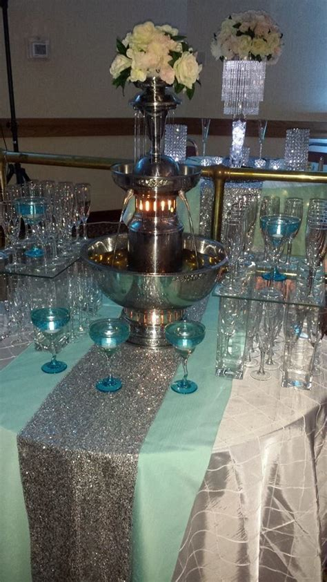 Tiffany Blue Champagne fountain. Jordan & Co.   Jordan