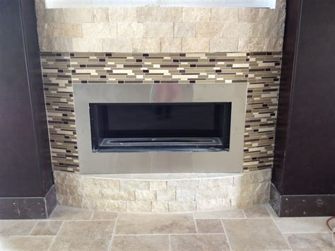 fireplace with glass tiles a sneak peek at a mod mediterranean home