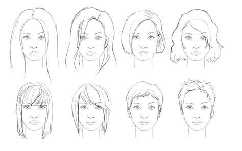 drawing of bob hair 4 marvellous how to draw female hairstyles harvardsol com