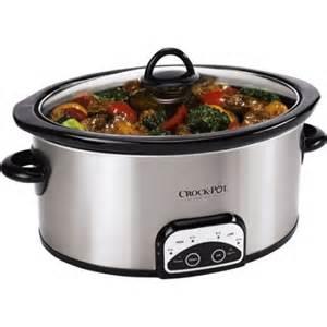 crock pot 7 quart programmable cooker walmart