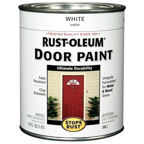 shop rust oleum stops rust white gloss enamel interior exterior paint actual net contents 32