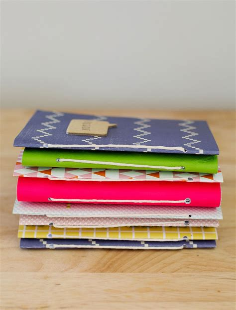 How To Make Handmade Notebooks - gift idea journals a beautiful mess