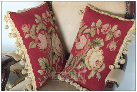 chic aubusson pillow cushion yellow pink floral