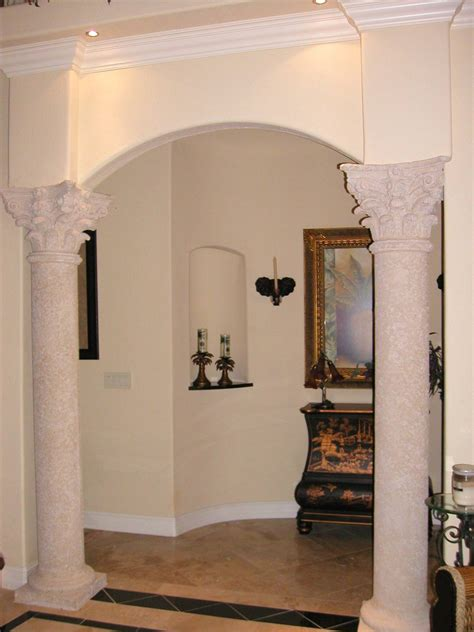 Pillars For Home Decor by Decorating Pillars For Luxury House Interior