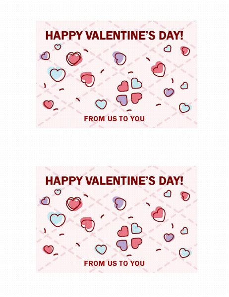 valentines day card quarter fold templates word things to do list office templates