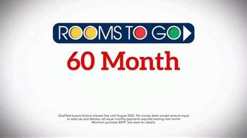 rooms to go ad rooms to go tv commercial july 4th finance offer extension ispot tv