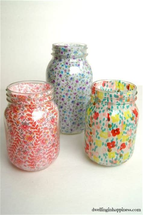 Decoupage Glass Jars - 25 best ideas about decoupage jars on