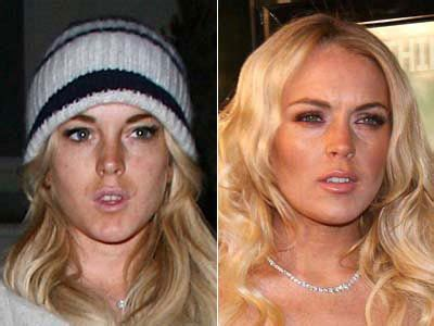 Lindsay And Hilary Make Up by Lindsay Lohan With And Without Makeup Stupid