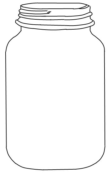 jar cut out template jar printable use to create fingerprint lightning