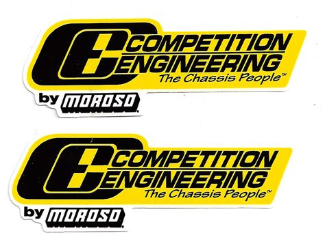 Auto Racing Decals by Competition Engineering Racing Decals Large Pair
