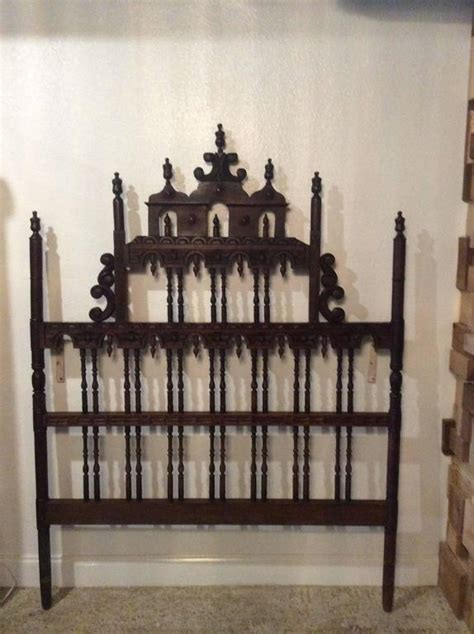 spanish headboards pagoda headboard vintage full queen ornate spanish spindle