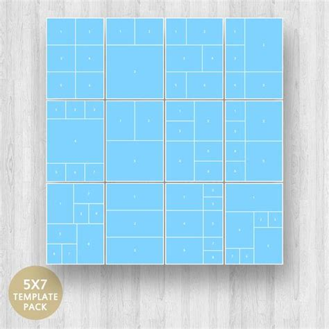 5 x 7 card template psd photoshop 5 x 7 photo collage template pack layered photoshop psd