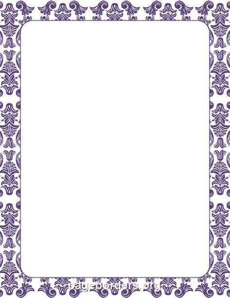 Wilton Ms Word Templates Silver Border Place Cards by Printable Purple Damask Border Use The Border In
