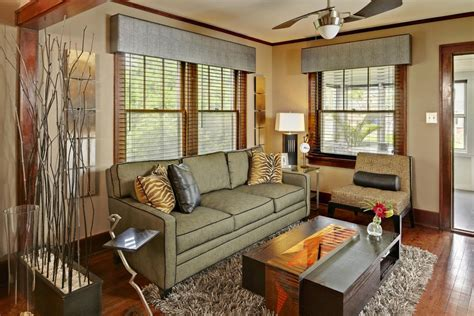 family room window treatments valances for vertical blinds living room modern with art
