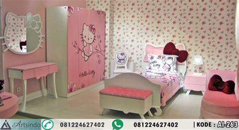 set tempat tidur anak perempuan kitty arts indo furniture jepara arts indo furniture jepara