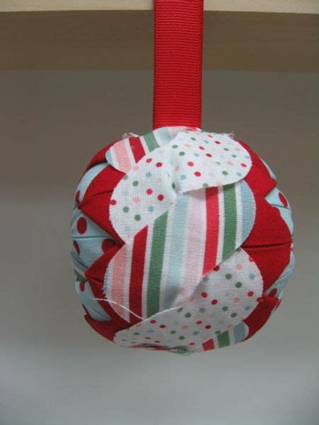 fabric folded ornaments folded fabric ornament stin up fabric projects
