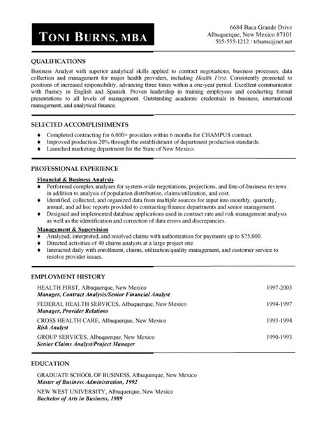 functional business analyst resume resume ideas