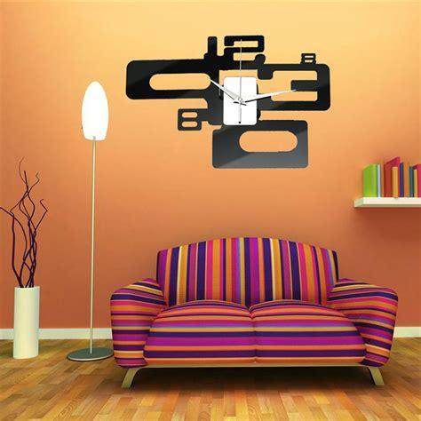 Acrylic Home Decor Modern Diy Frameless Acrylic Mirror Wall Clocks Sticker Home Office Decor Ebay