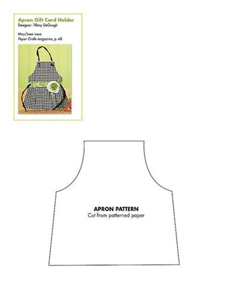 apron design template apron card pattern patterns for cards card bases boxes